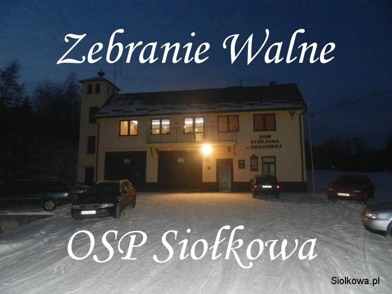 Zebranie Walne OSP Siołkowa