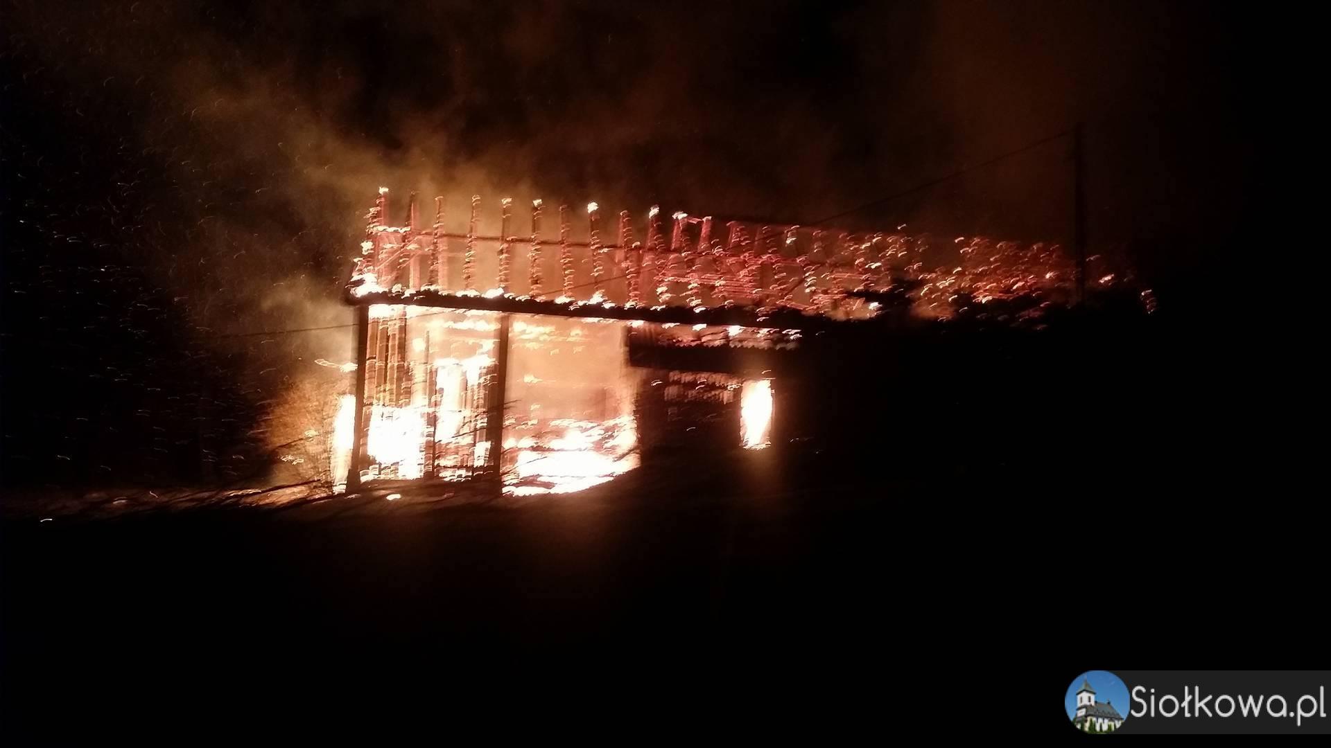 Pożar stodoły w Siołkowej na Osikowie